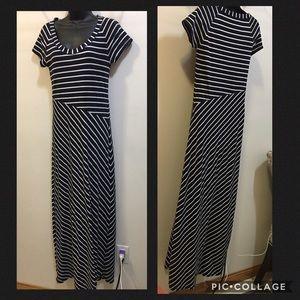 Athleta striped Maxi dress size SMALL